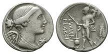 Republican - L Valerius Flaccus - Mars Denarius