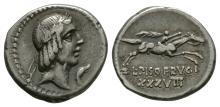 Republican - L Calpurnius Piso Frugi - Denarius
