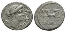 Republican-P Plautius Hypsaeus-Jupiter Denarius