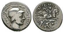 Republican Coins - P Fonteius P f Capito - Denarius