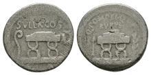 Republican - Q Pompeius Rufus - Chair Denarius