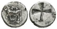 Greek - Byzantion - Cow and Dolphin Fourré Drachm