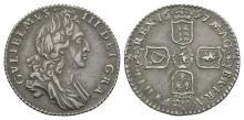 William III - 1697 - Broken E Punch Sixpence