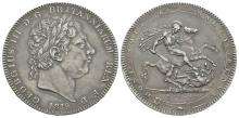 English Milled Coins - George III - 1819 LIX - Crown