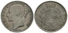 English Milled Coins - Victoria - 1845 VIII - Crown