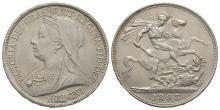 English Milled Coins - Victoria - 1893 LVI - Crown
