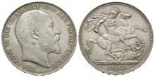 English Milled Coins - Edward VII - 1902 - Crown