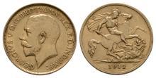 George V - 1912 - Gold Half Sovereign