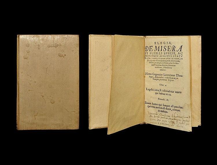 Books Mento Gogreve - Elegia de Misera et Filibi Specie