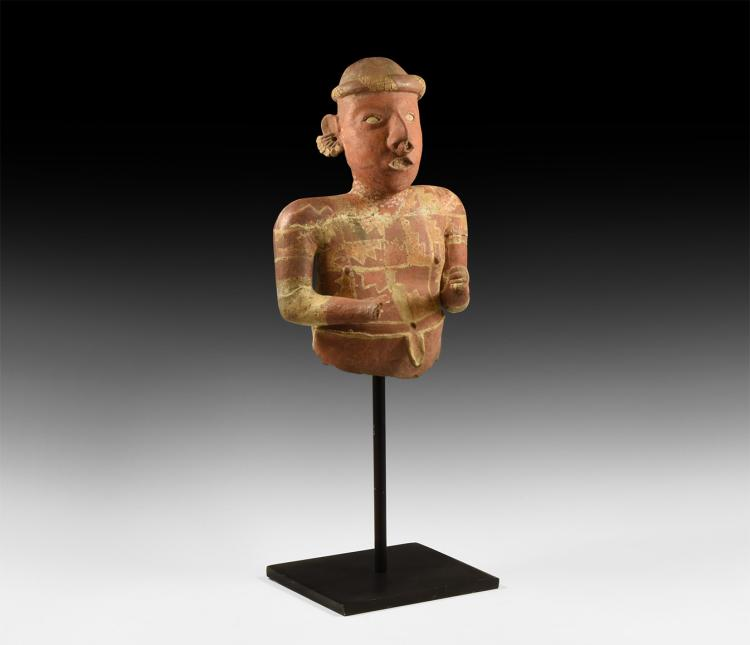 Pre-Columbian Large Polychrome Statue