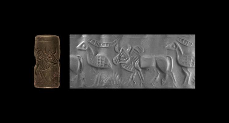 Achaemenid Bird and Bull Cylinder Seal