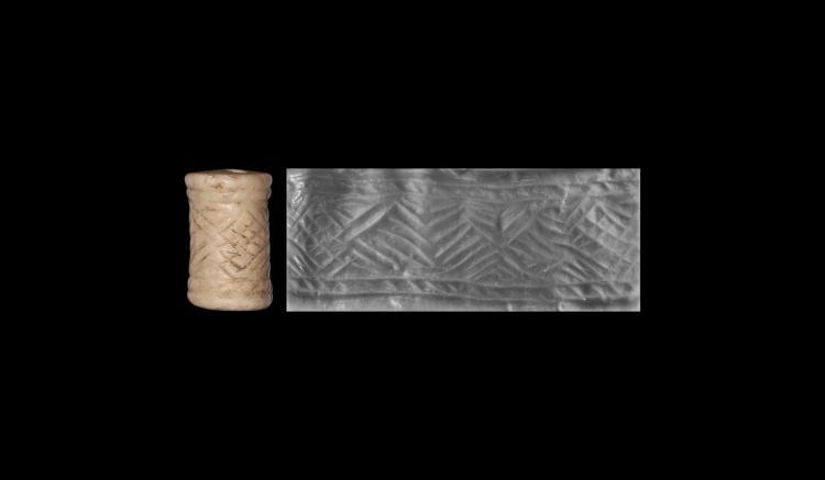 Cylinder Seal Pendant with Geometric Motif