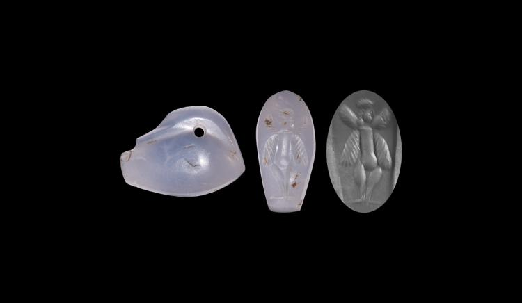 Western Asiatic Chalcedony Duck Weight Seal