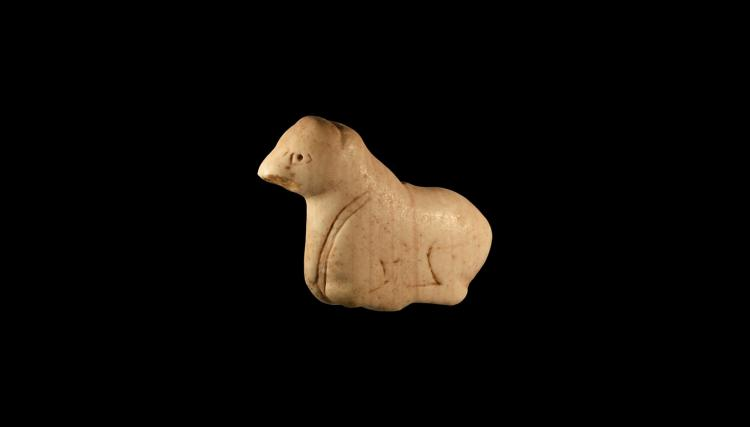 Western Asiatic Recumbent Cow Amulet