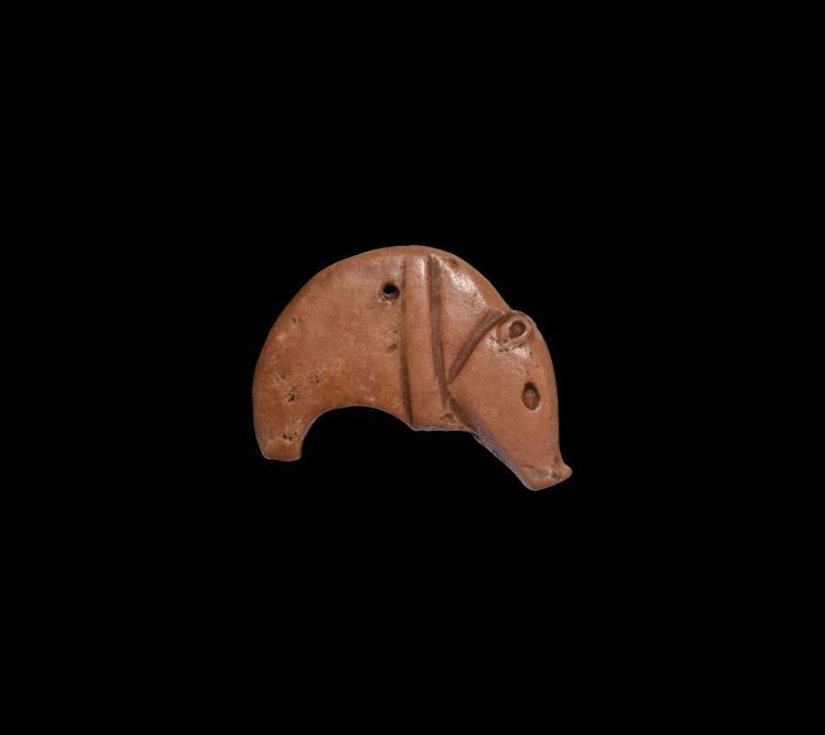 Western Asiatic Large Crescent Boar Amulet