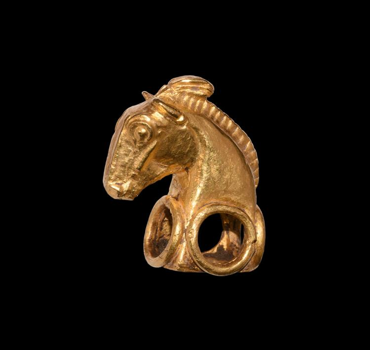 Western Asiatic Achaemenid Gold Horse Mount