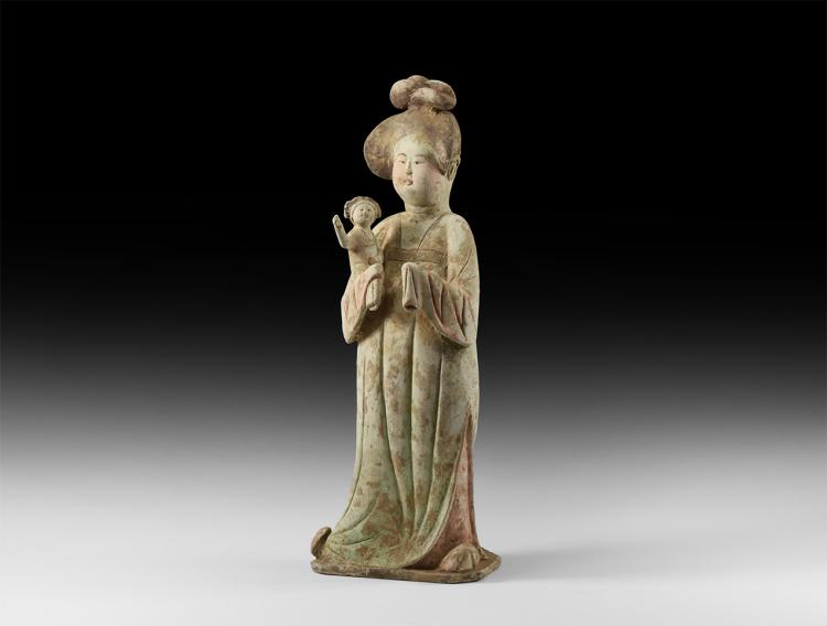 Chinese Tang Fat Lady with Baby