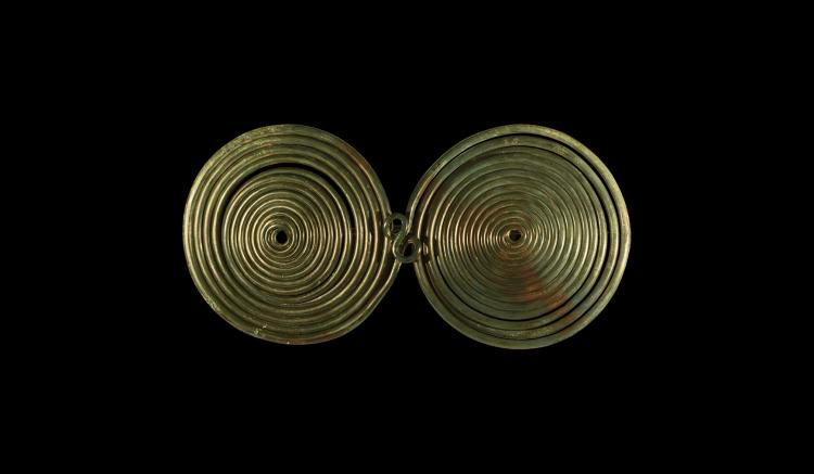 Bronze Age Large Spectacle Brooch