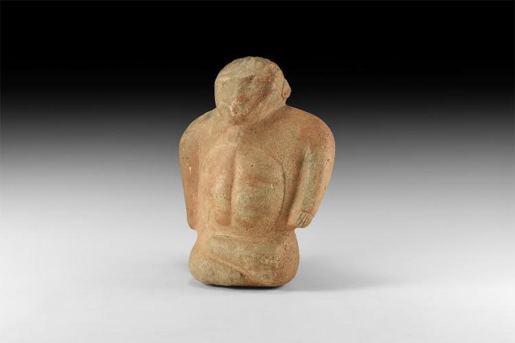Anatolian Cross Legged Sitting Idol