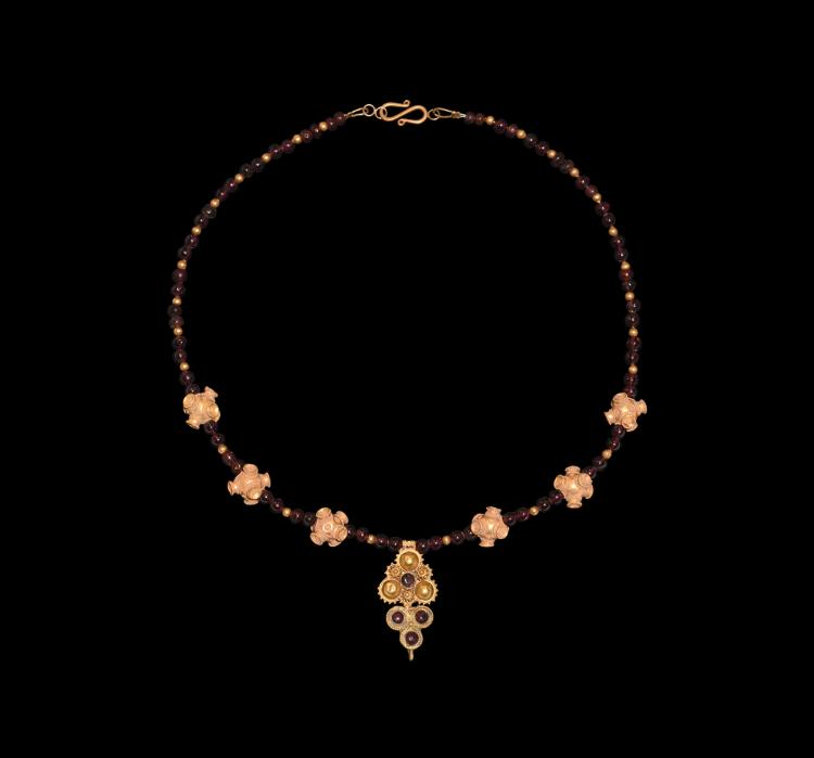 Parthian Gold and Garnet Necklace