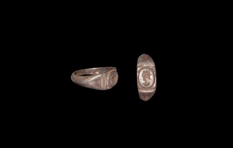 Roman Silver Ring with Bust