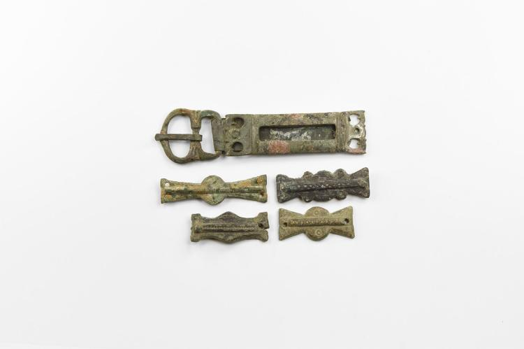 Roman Military Belt Buckle and Mount Group