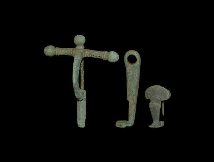 Roman Brooch and Key Group