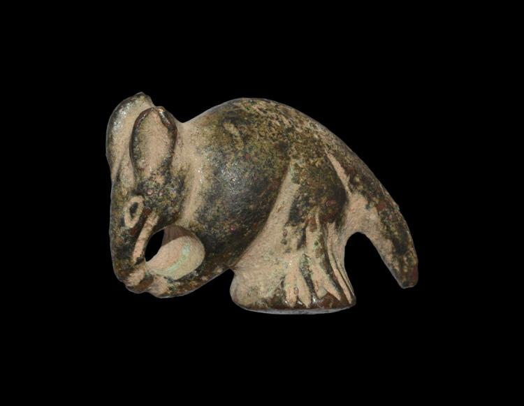 Roman Mouse with Nut Statuette