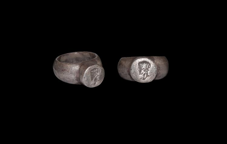 Roman Silver Ring with Portrait