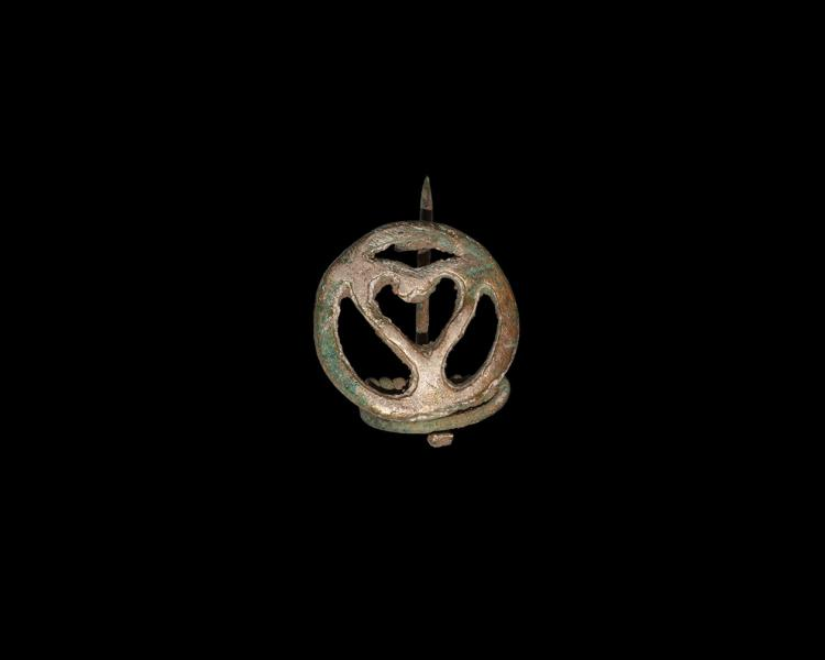 Roman Tinned Openwork Brooch