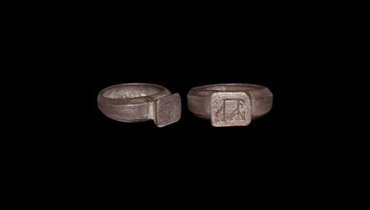 Byzantine Silver Ring with Monogram