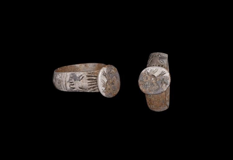 Byzantine Silver Ring with Portrait