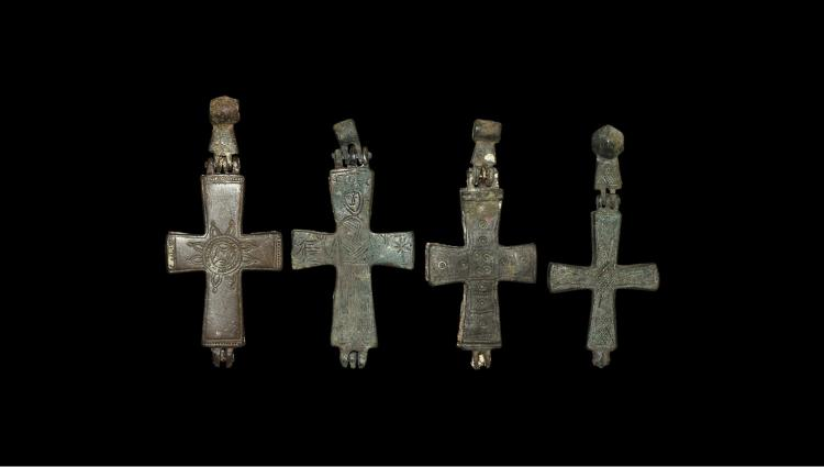 Byzantine Reliquary Cross Pendant Collection