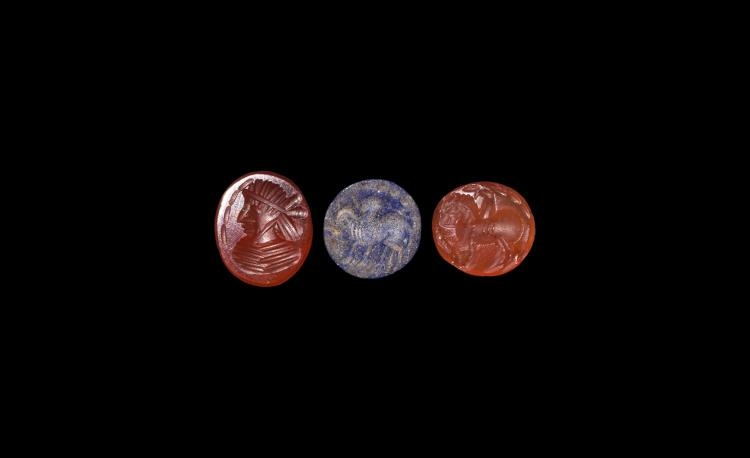 Western Asiatic Sassanian Intaglio Group