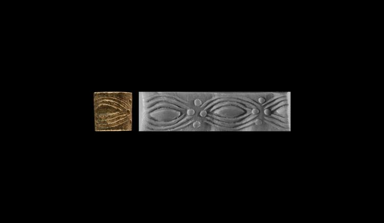 Mesopotamian 'Eyes' Cylinder Seal