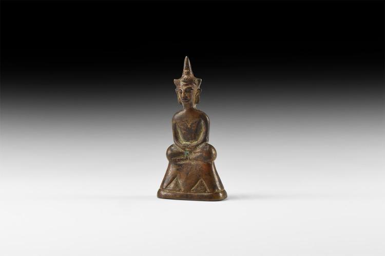 Thai Bifacial Buddha Statuette