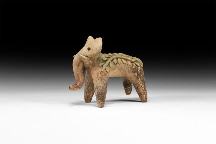 Indian Standing Elephant Figurine