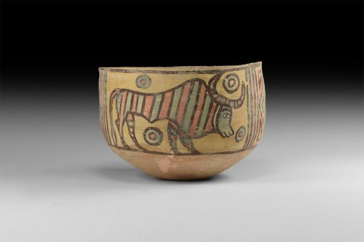 Indus Valley Mehrgarh Bowl with Bull and Lion