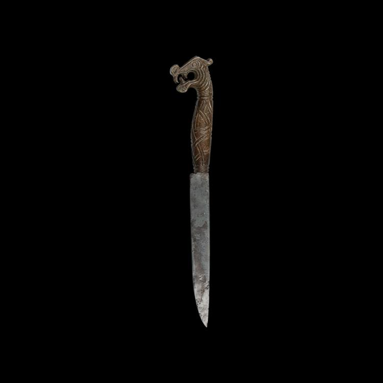 Viking Knife with Dragon Handle
