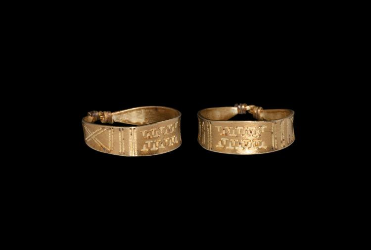 Viking Gold Decorated Ring