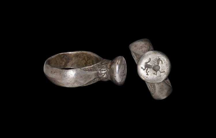 Medieval Ring with Running Beast