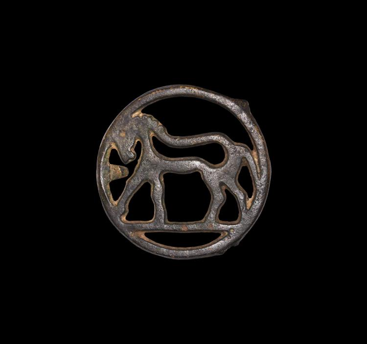 Medieval Openwork Roundel with Horse