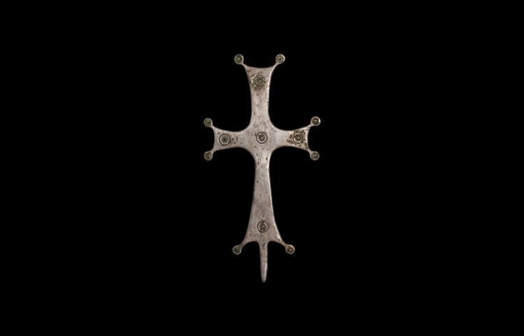Byzantine Silver Altar Cross