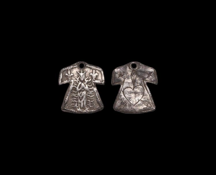 Medieval Silver 'Shirt of Chartres' Pendant