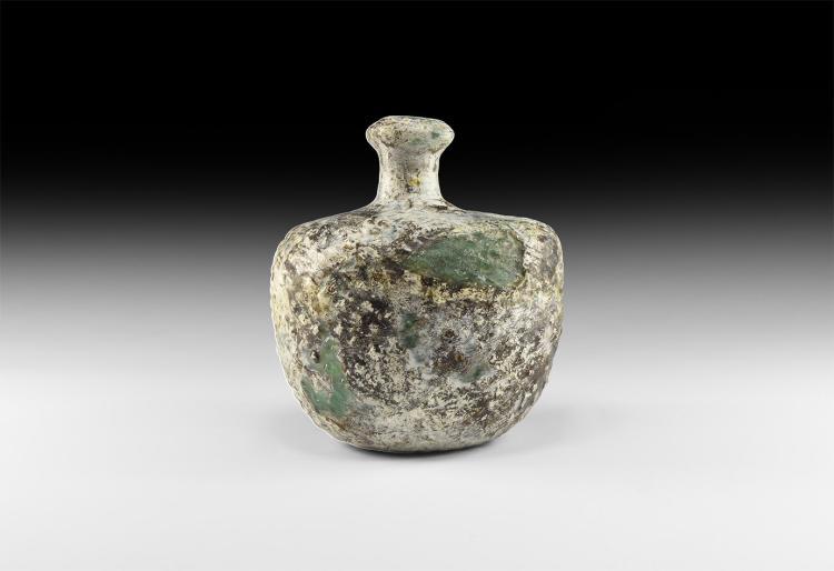 Islamic Green Glass Vessel