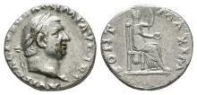 Vitellius - Vesta Denarius