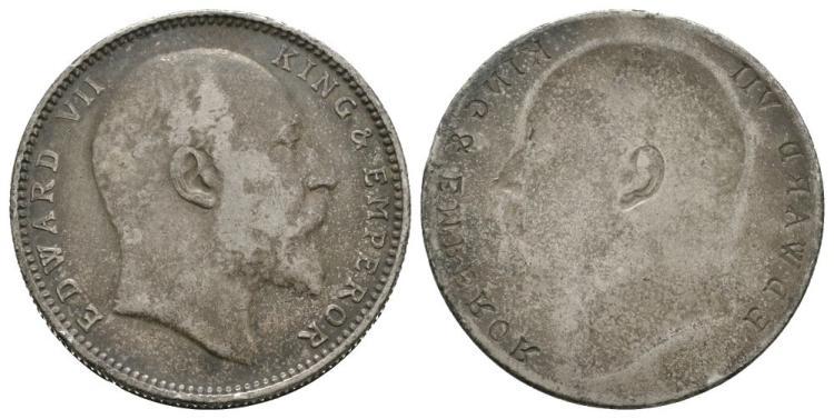 India - Edward VII - Obverse Brockage Rupee