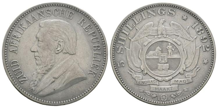South Africa - 1892 - 5 Shillings