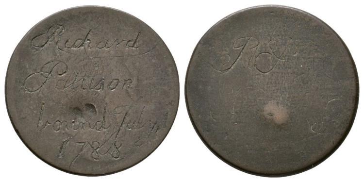 Richard Pattison Bound 1788' Convict Token