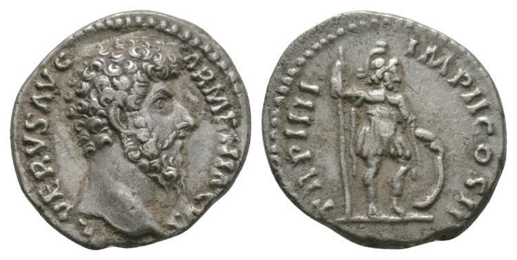 Lucius Verus - Mars Denarius